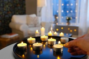 Ikea Glimma unscented tealights